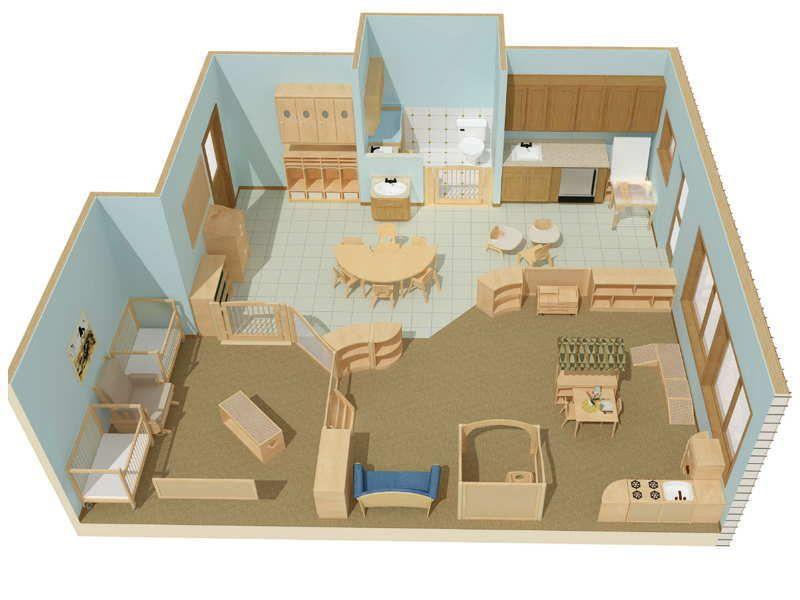 Modern Classroom Blocks ~ Picture of vertical preschool classroom layout d design