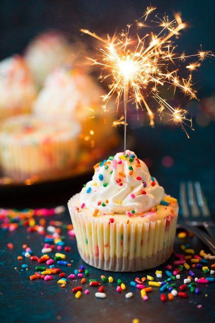 FunfettiMiniCheesecakes Desserts Cupcakes Pinterest