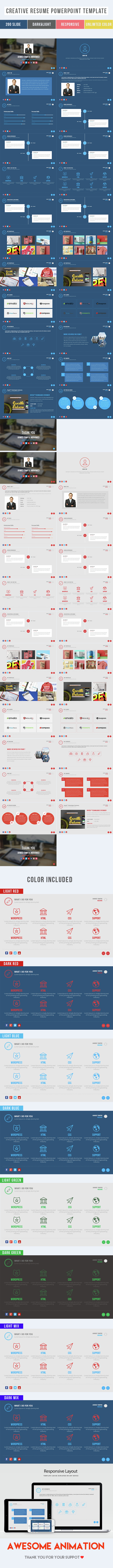 Creative Resume Powerpoint Template Download Here Http