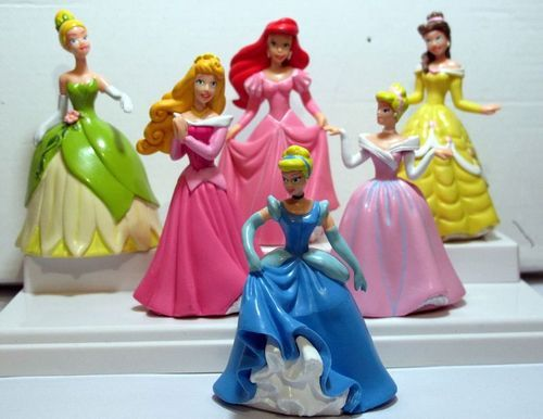 Disney Princesses Figures Toys Set of 6pc Cinderella Belle Ariel