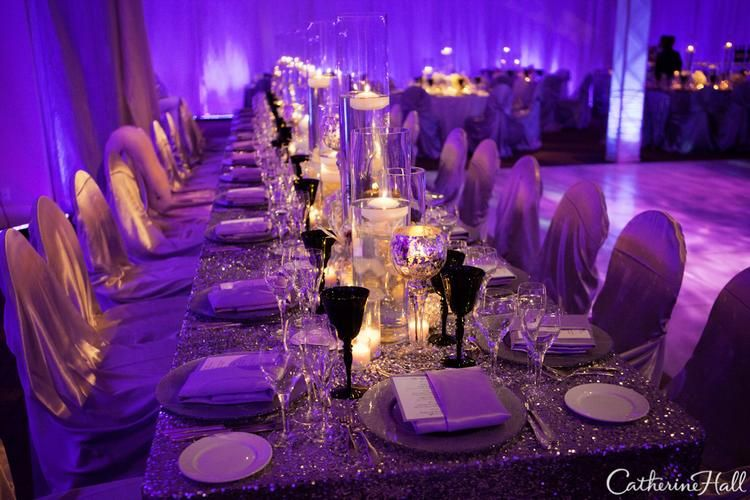 Silver And Lavender Flourishes Complemented The Black White Theme Accented With Thousands