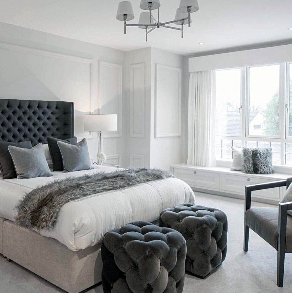 Graceful master bedroom ideas houzz that look beautiful  Grey