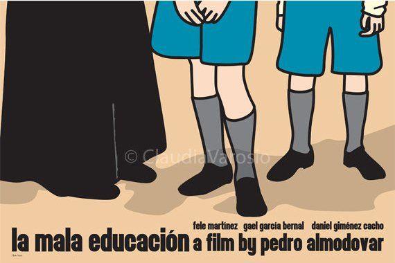 La mala educacion (Bad Education) (2004) - Minimal Movie Poster by Claudia Varosio #minimalmovieposter #alternativemovieposter #claudiavarosio