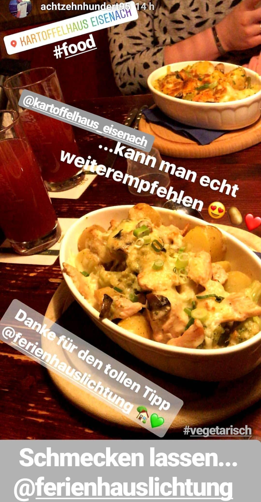 Vegetarische Speisen vom Feinsten...im Kartoffelhaus in