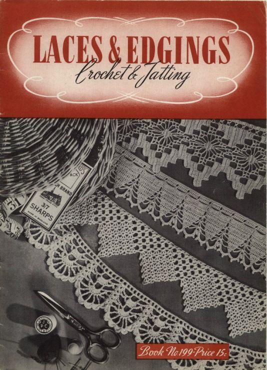 Vintage Crochet  Edging Patterns King/'s Book of Edgings c.1912