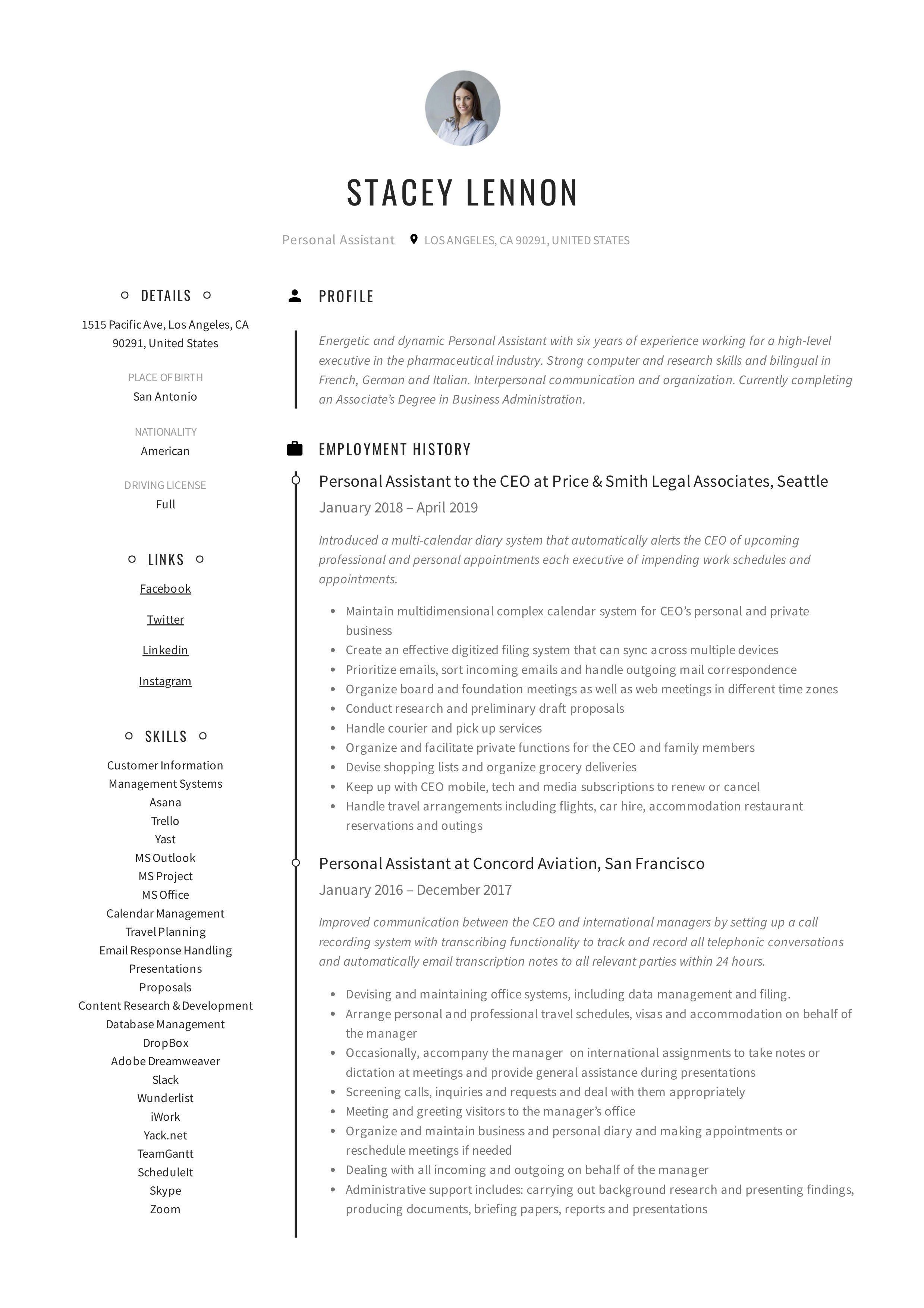 Personal assistant resume writing guide in 2020 resume