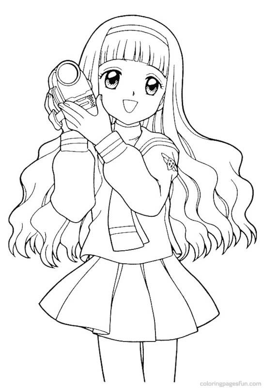 cardcaptor sakura coloring page - Cardcaptor Sakura Coloring Pages
