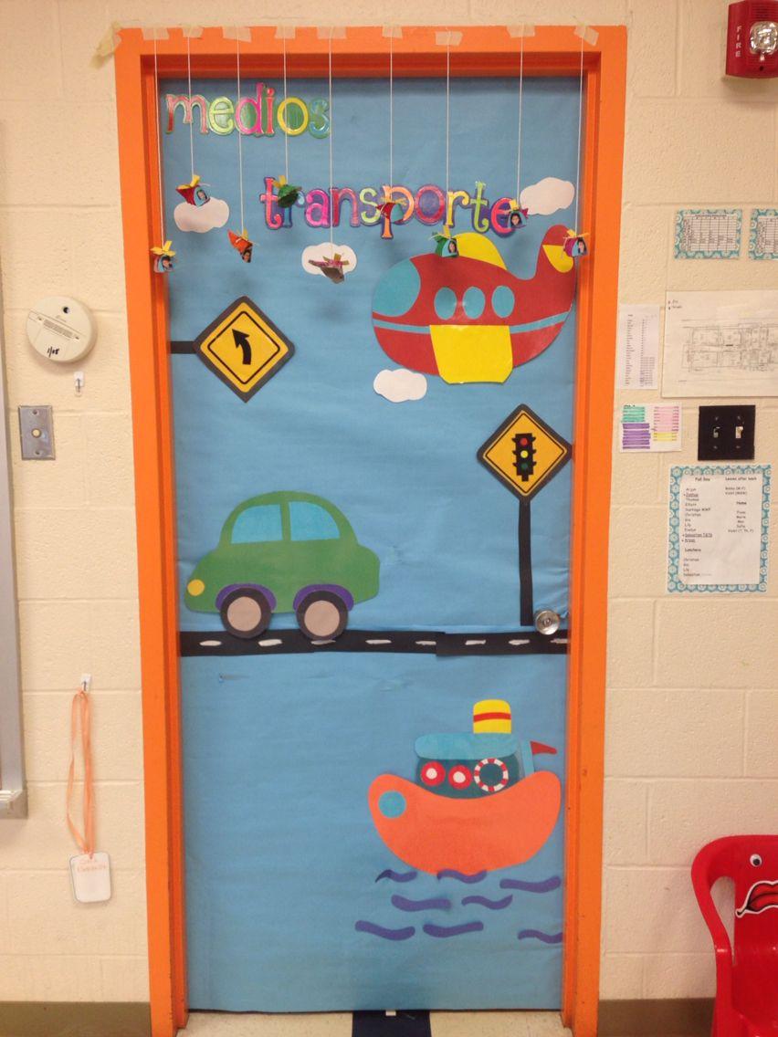 Classroom Decoration Ideas For Door ~ Transportation door pinterest