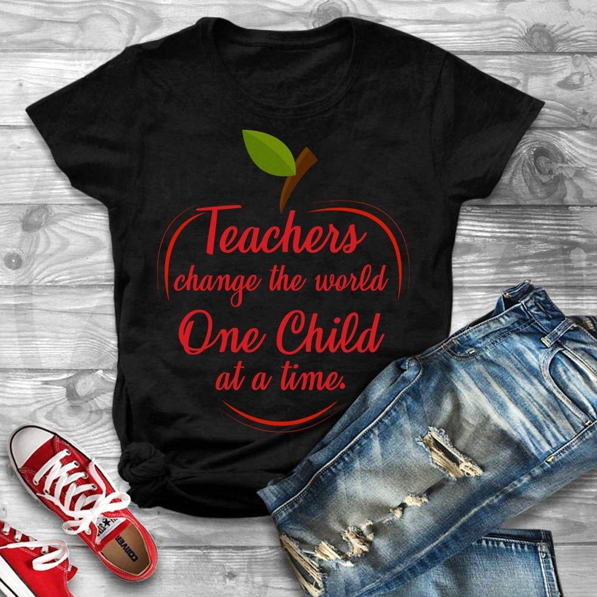 Change world teacher shirtteacher giftteacher etsy in