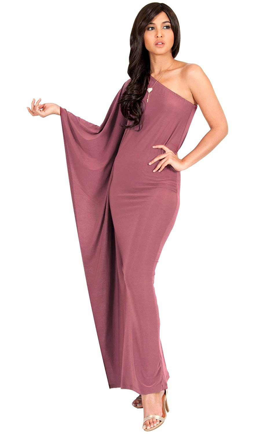 bcc98c60a82 KOH KOH Womens Long Sexy One Shoulder Evening Cocktail Semi Formal Maxi  Dress... More information can be located at the image url.