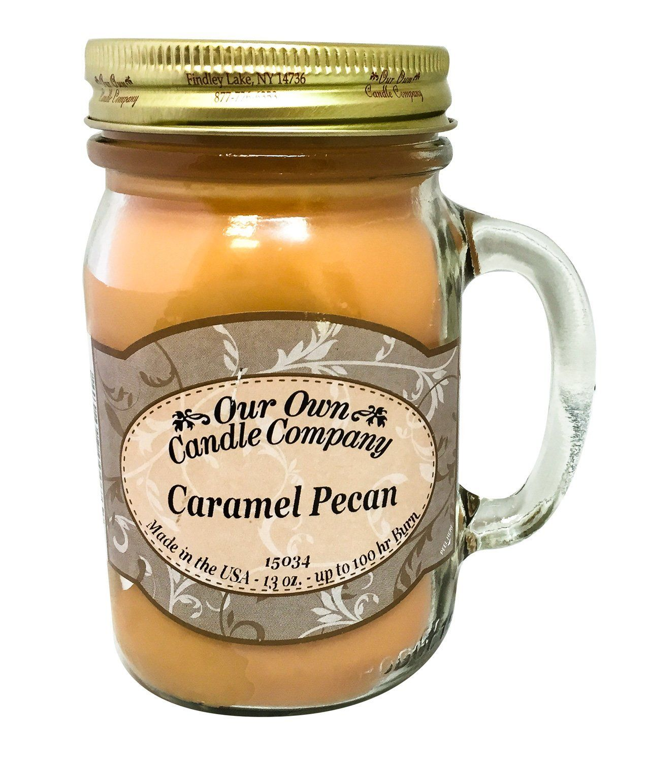 Caramel Pecan Scented 13 Ounce Mason Jar Candle By Our Own Candle Company >>> You can get additional details at the image link.