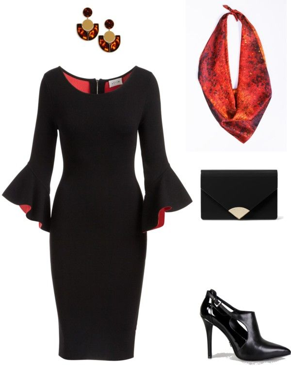1defb9e12f282 Fiery and Elegant Christmas Party Outfit Ideas | my style ...