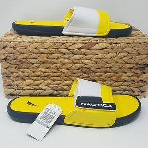 EUCWT Nautica Mens 9 Bower Slide Sandals A7C