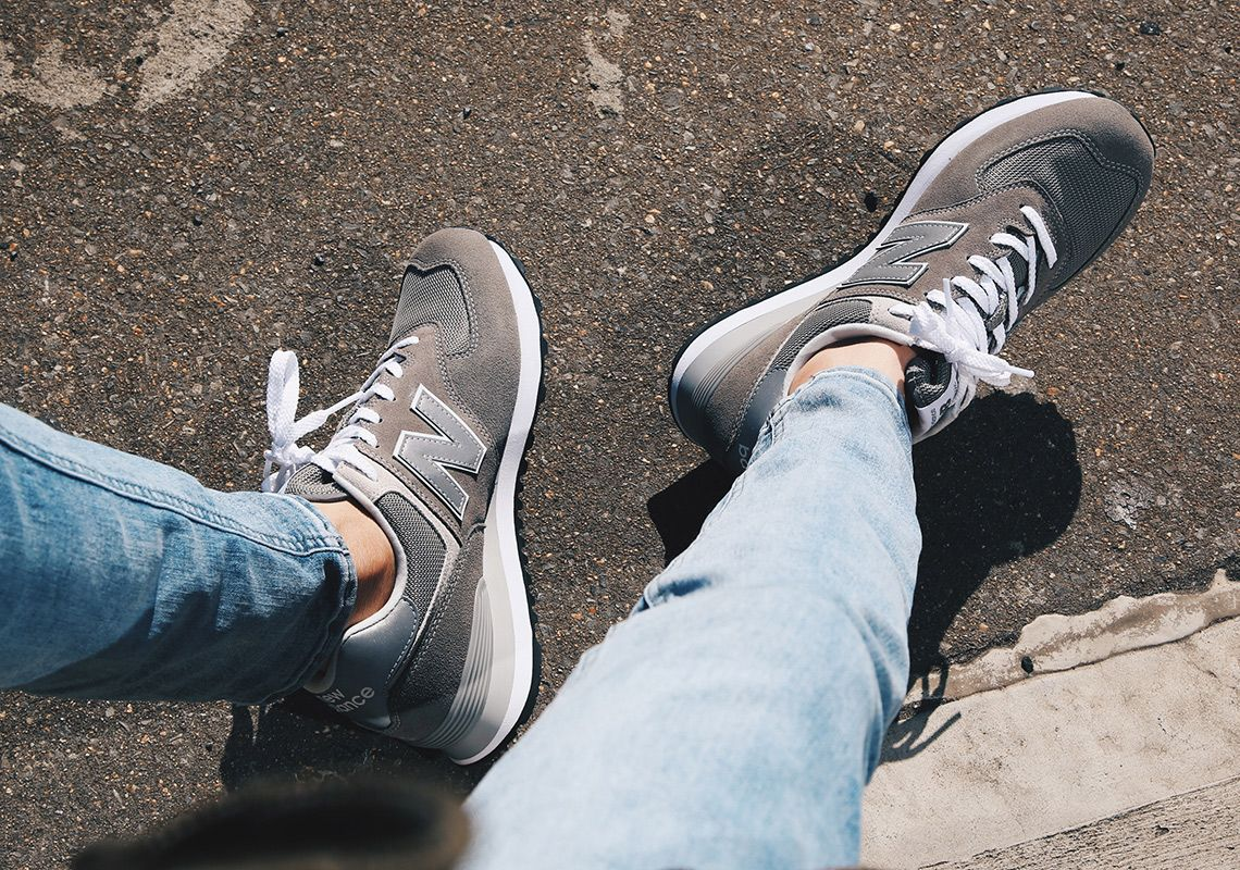 brand new 75104 b08d8 new-balance-574-classic-grey-on-foot