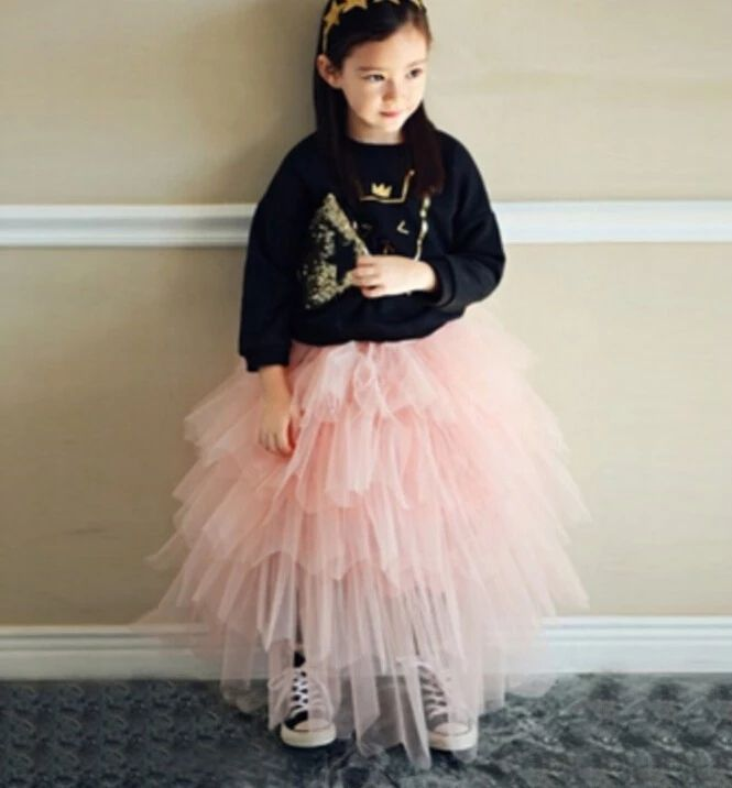 Babies Girls Tutu Tulle Skirts Layers Pink Party Skirts Sweet Baby Party Tutu Skirts