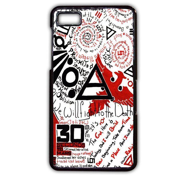 30 Seconds to Mars Fact TATUM-31 Blackberry Phonecase Cover For Blackberry Q10, Blackberry Z10
