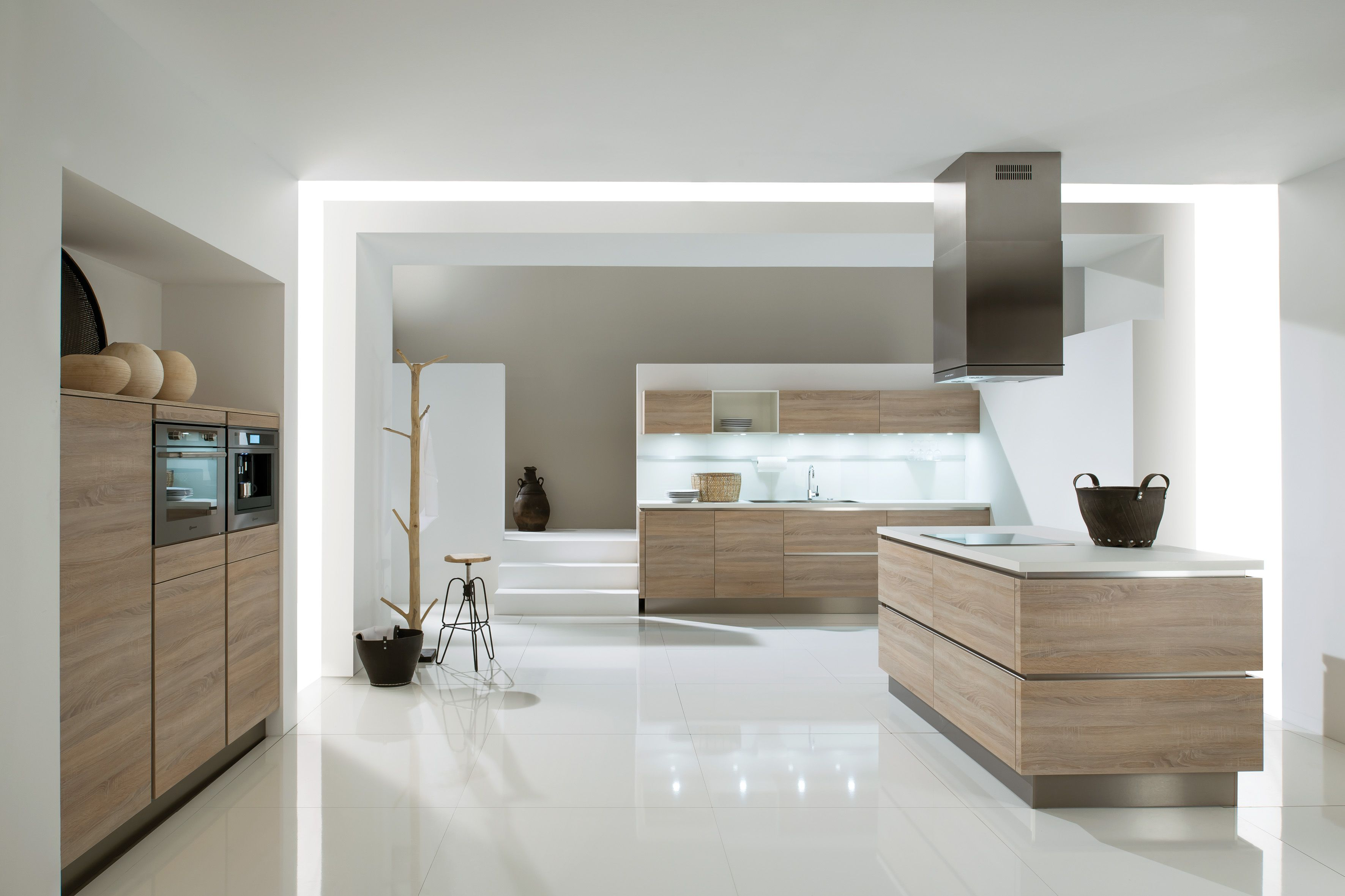witte keuken amerikaanse koelkast - Google zoeken   Keuken ...