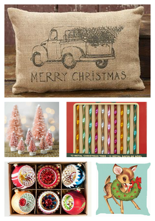 These Vintage Inspired Christmas Decorations are full of nostalgic charm! These modern vintage reproductions are a great way to get that vintage Christmas look without breaking the bank! Vintage inspi