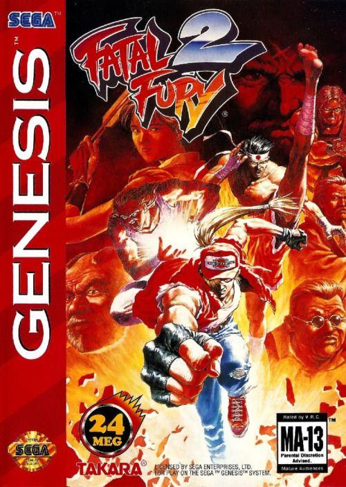 Vgjunk Fatal Fury 2 Genesis Retro Gaming Box Art Genesis
