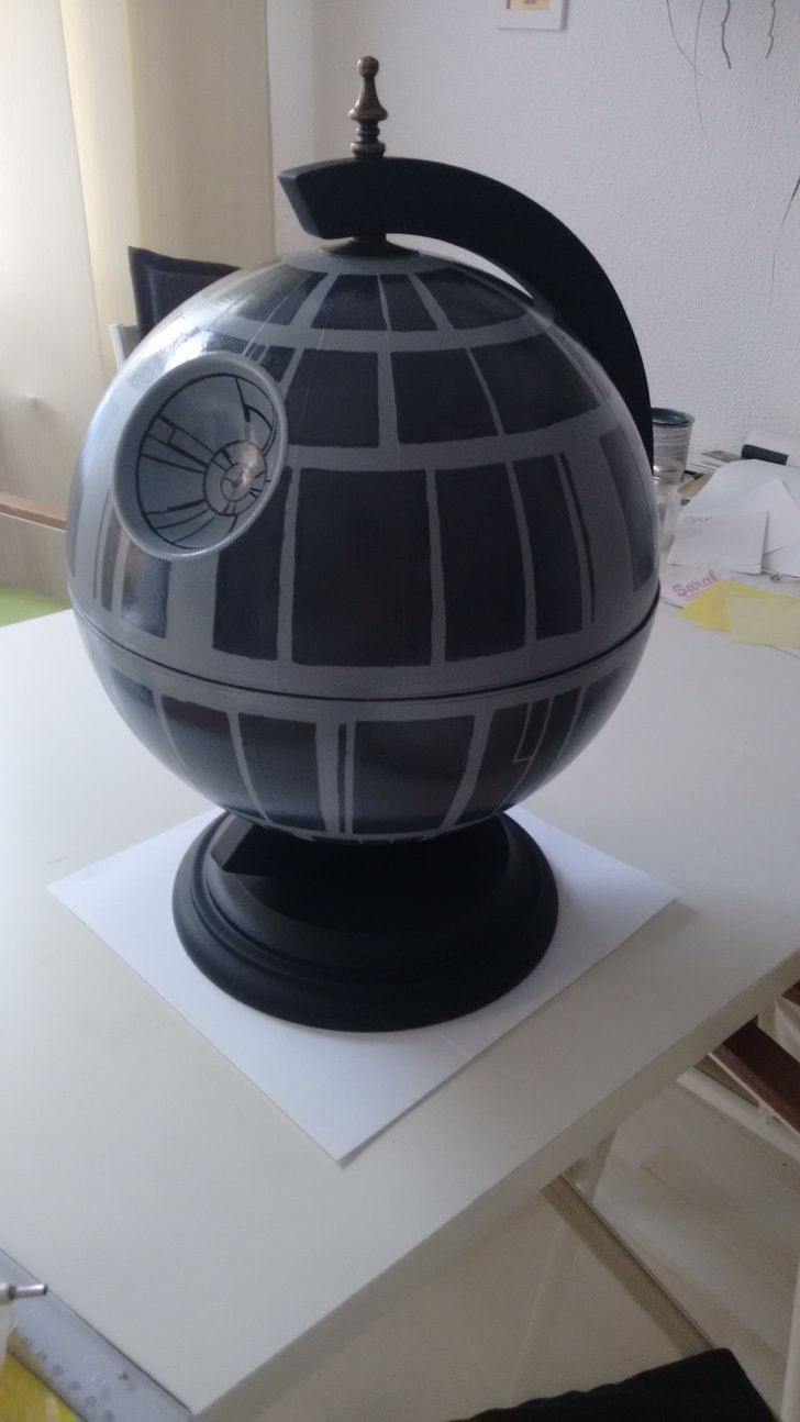 DIY: Star Wars Death Star Globe Bar | Pinterest | Mann geburtstags ...
