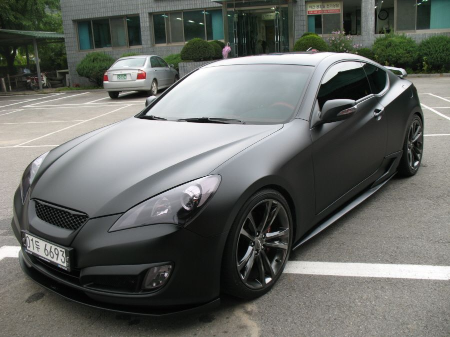 Perfect Matt Black Genesis Coupe