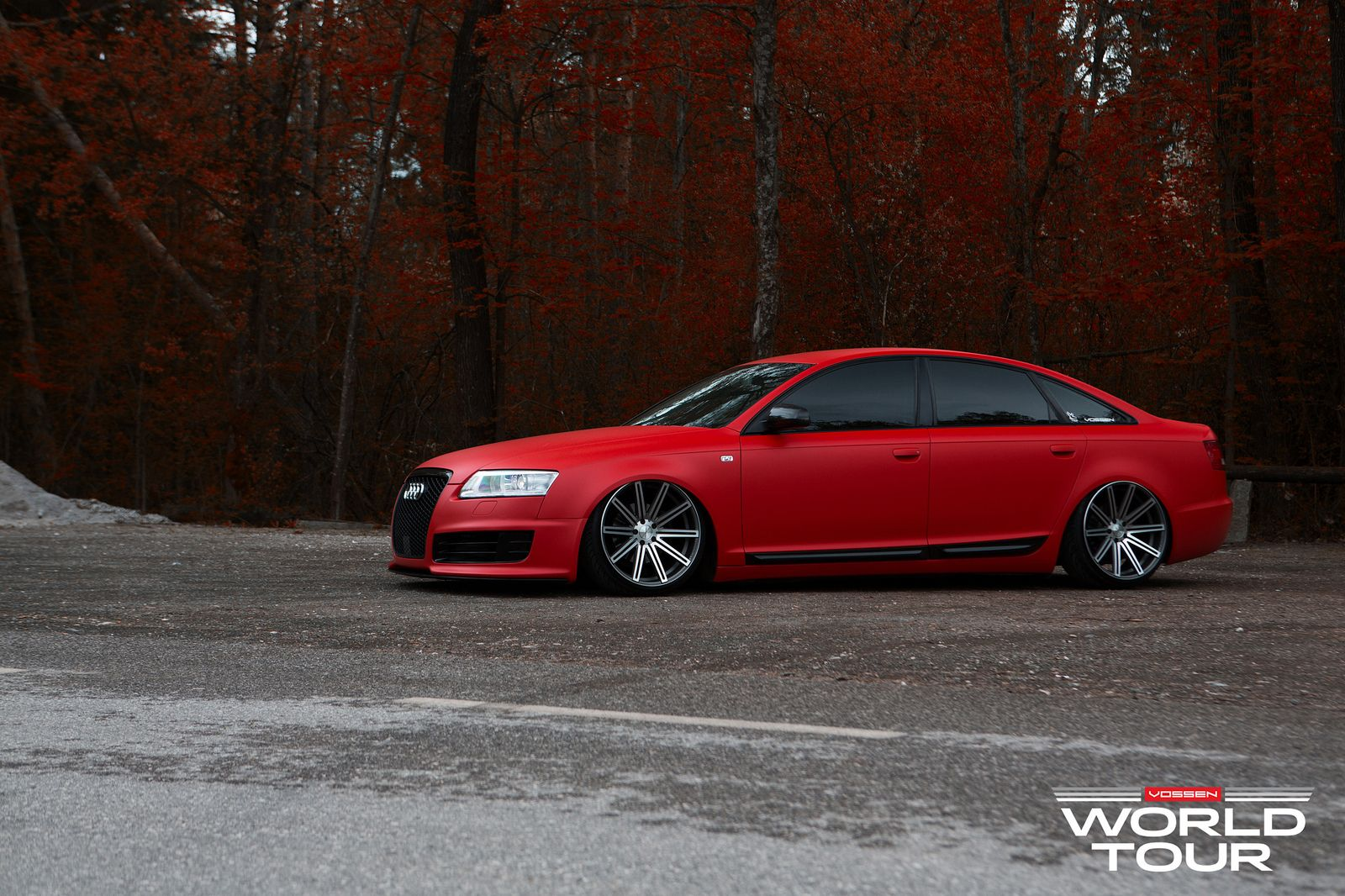 Audi A6 C6 Is A Red Rooster On Vossen Rims Hot Rides Pinterest