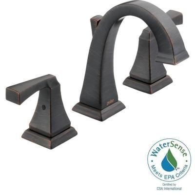 Delta Dryden 8 in. Widespread 2-Handle High-Arc Bathroom Faucet in Venetian Bronze