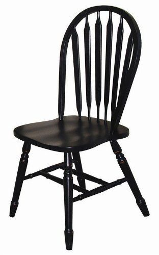 Sunset Selections Arrow Back Side Chair Finish Antique Black By