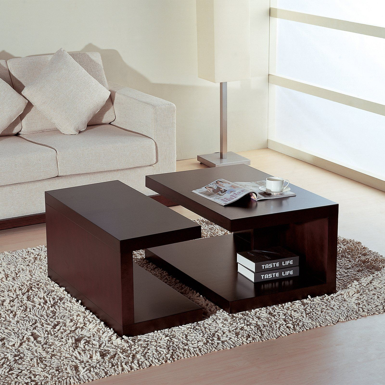 Jengo 2 Piece Coffee Table Espresso Www Hayneedle Com Coffee Table Round Coffee Table Living Room Center Table Living Room [ 1600 x 1600 Pixel ]