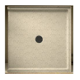 Swanstone Tahiti Desert Solid Surface Shower Base Common 37 In