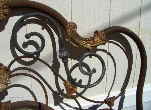new style 6621e 12b73 Antique Iron Headboard   Ironwork At Its Very Best   Iron ...