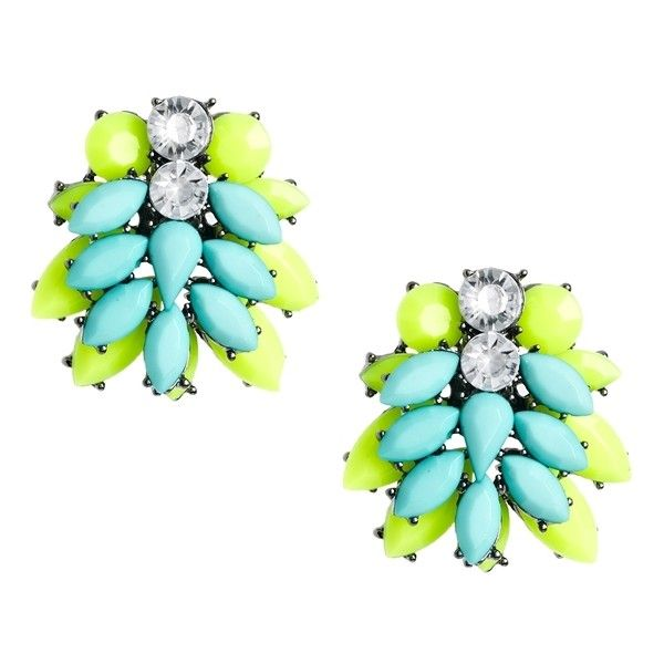 River Island Lime Delicate Colour Burst Dangle Earrings ❤ liked on Polyvore featuring jewelry, earrings, dangle earrings, long earrings, lime green jewelry, river island and lime green earrings