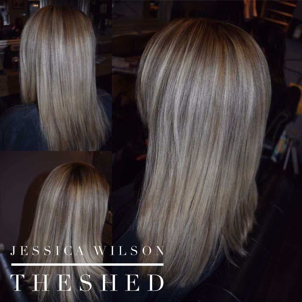 Grown if out full head tint colour by going balayage
