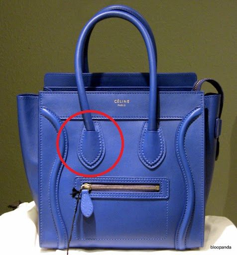 5509f8add5 How to spot a fake Celine Luggage Bag