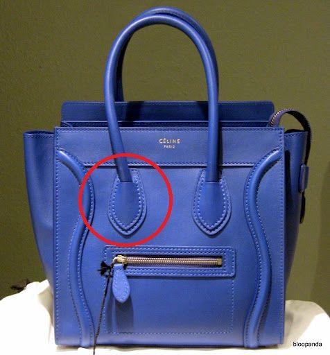 8aafa9cebc How to spot a fake Celine Luggage Bag