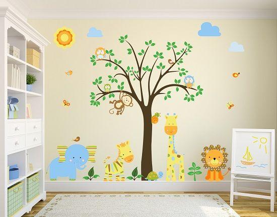 Mandarina y tulip n vinilos - Pegatinas habitacion infantil ...
