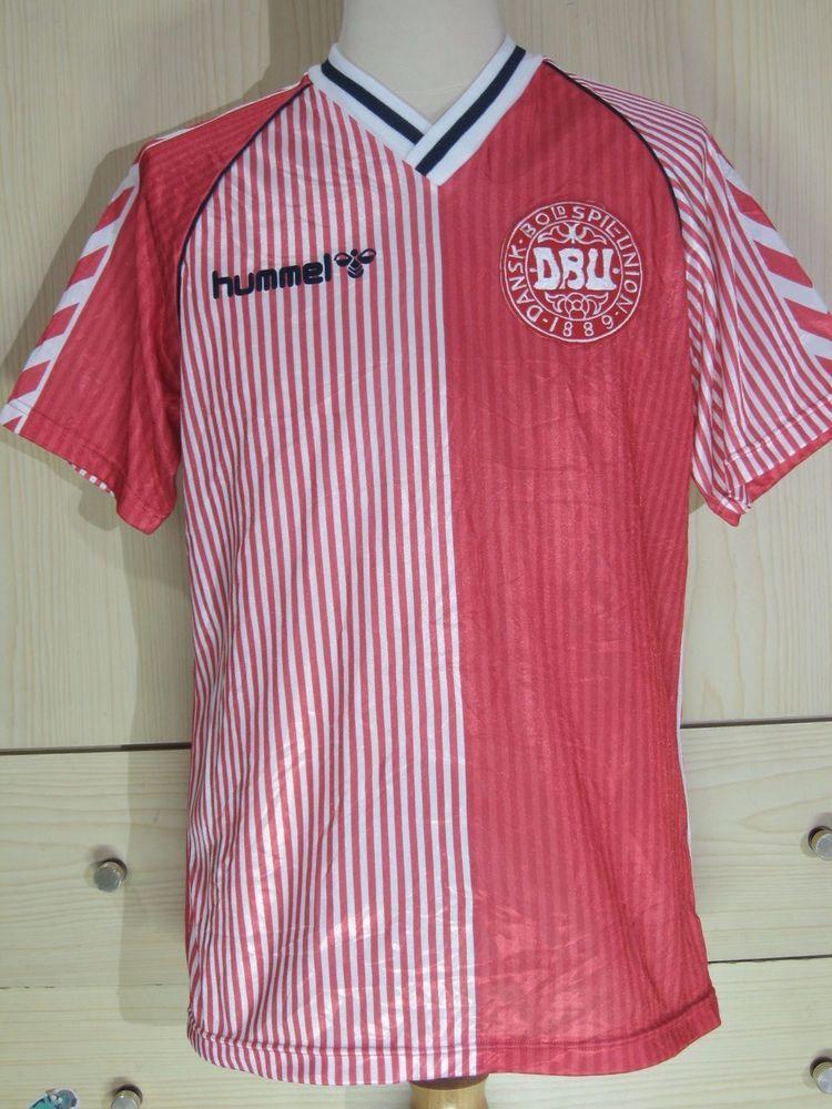 375b8e367 Denmark World Cup 1986 Hummel Football Shirt Home Vintage Soccer Jersey L