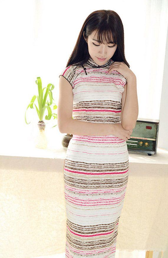 Summer Sleeveless Linen Chinese DressCheongsam by RockRollRefresh, $68.00