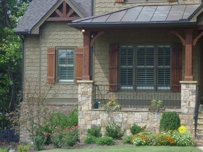 Houses With Natural Stained Cedar Shutters Newer Post Older Home