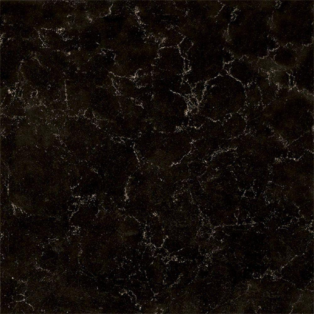 quartz countertop sample in midnight