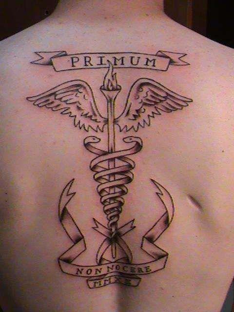 Medical Symbol Back Tattoo 1502 Movieweb