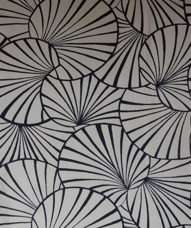 tissu l 140 cm nymph as noir fond ficelle tissus ameublement par kreative deco appartement. Black Bedroom Furniture Sets. Home Design Ideas