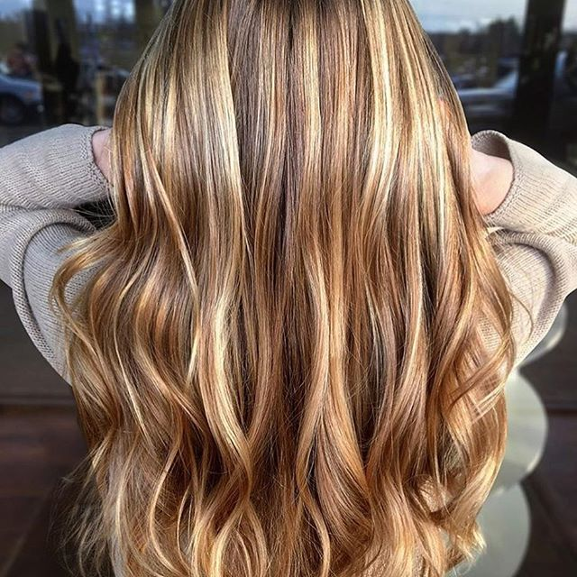 Caramel Balayage Brunette With Images Gold Blonde Hair Long