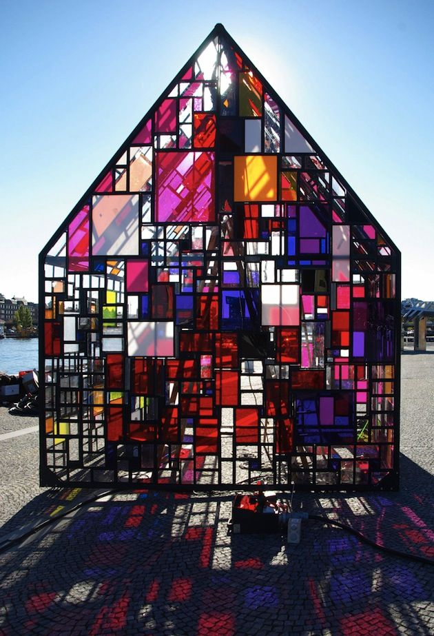 Exceptional Tom Fruin: Works Imagine The Play Of Light And Color Inside This Stained  Glass Dream Of A House! Great Ideas