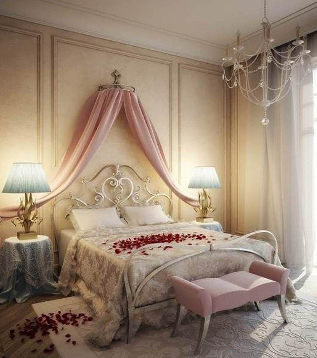 Beautiful Romantic Bedroom Design: Bedroom , The Best Bedroom Colors For Couple : Romantic