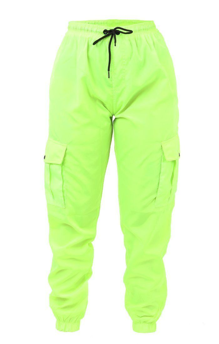 4bef20978b627 Neon Lime Green Cargo Trousers - Selah - 6 / Neon Lime in 2019 ...