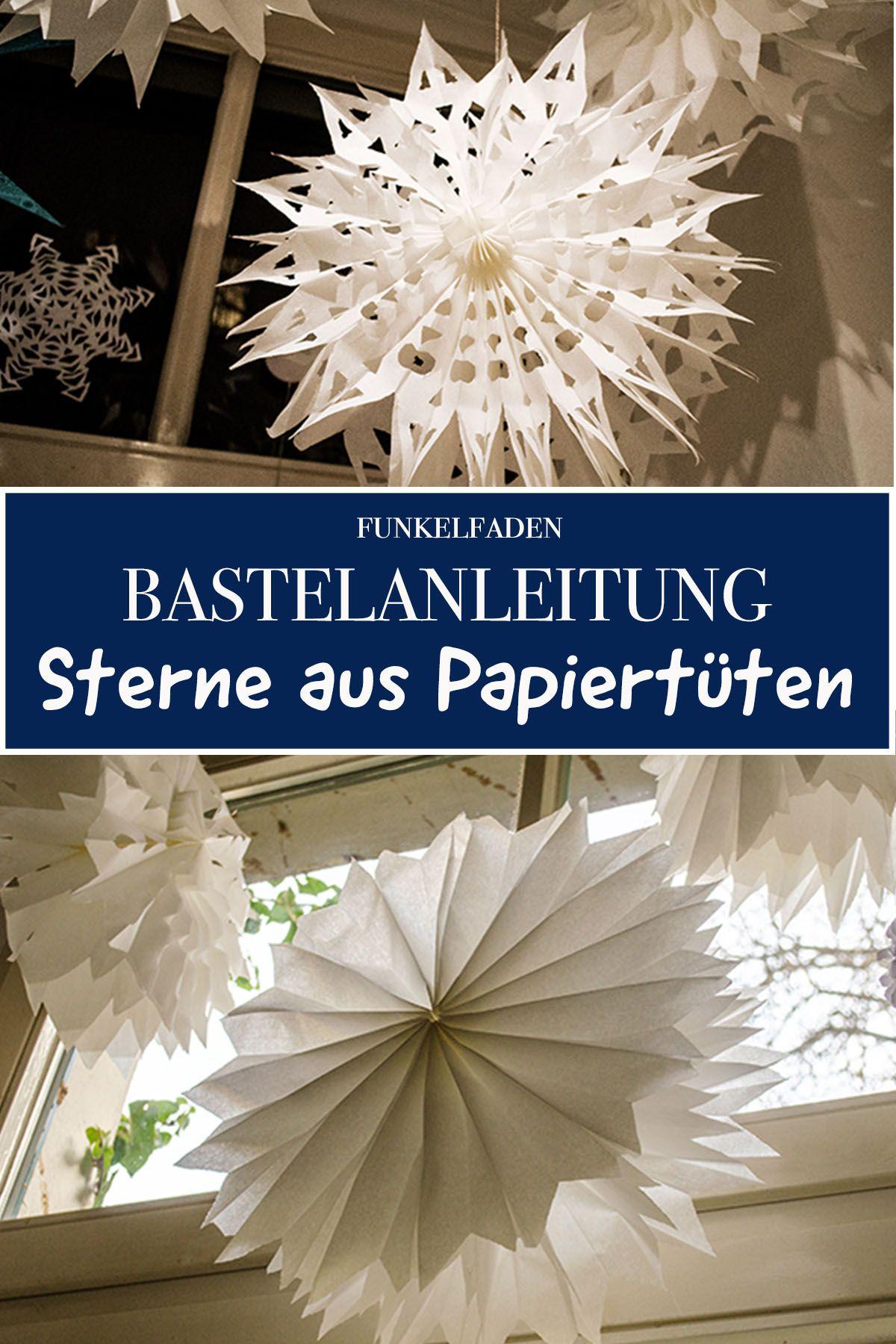 Anleitung - Sterne aus Brotpapiertüten basteln mit Kindern / DIY
