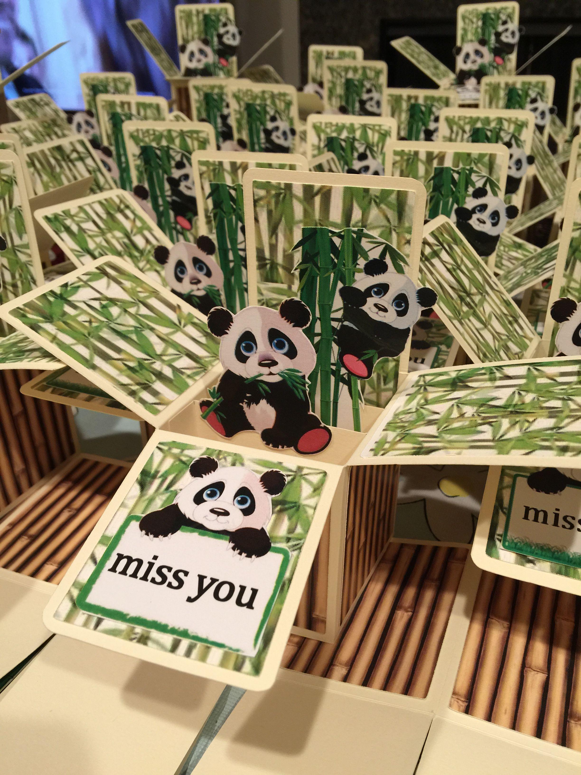 Panda Miss You Pop Up Box Card Pop Up Box Cards Card Box Pop Up Cards