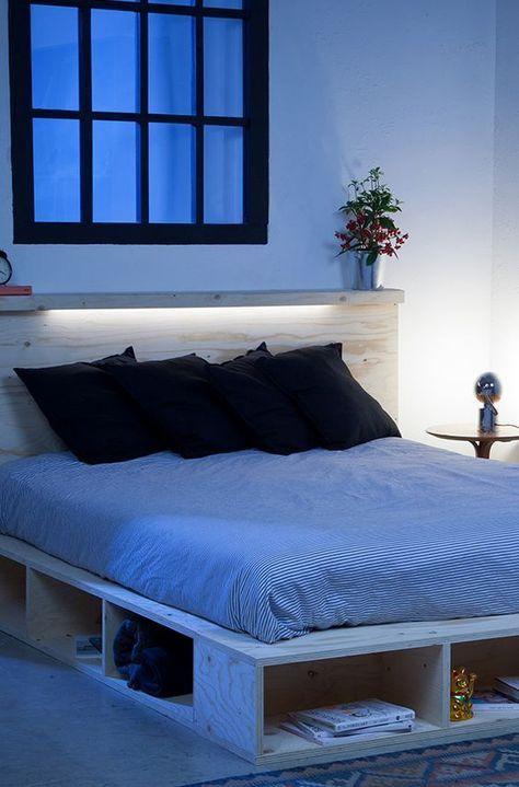 stauraum bett selber bauen - Bett Backboard Ideen
