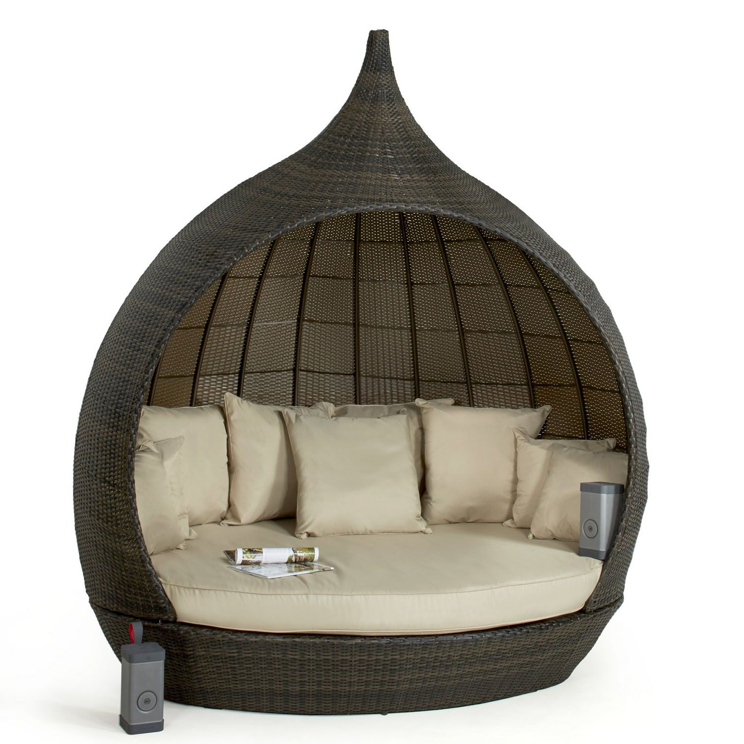 Maze Rattan Pear Shape Daybed The UK's No. 1 Garden
